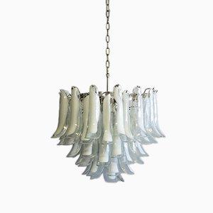 Lámpara de araña italiana de cristal de Murano de Mazzega, 1982