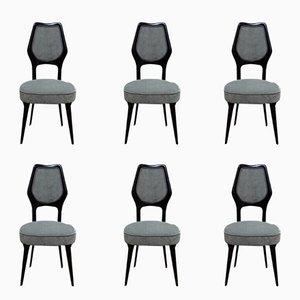 Esszimmerstühle von Vittorio Dassi, 1950er, 6er Set