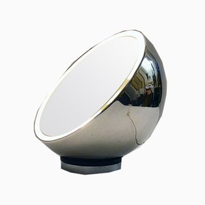 Italian Chromed Metal Illuminated Table Mirror from Reggiani, 1970s