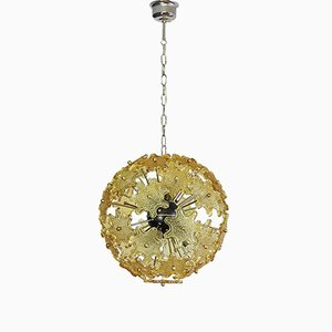 Mid-Century Italian Murano Glass Sputnik Chandelier, 1975
