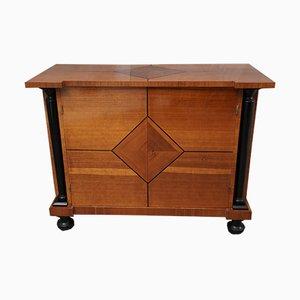 Art Deco Austrian Pearwood Cabinet, 1930s