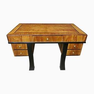 Rectangular Art Deco Style Italian Ash Writing Desk, 1940s