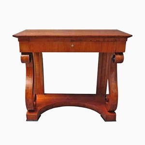 Square Biedermeier Cherrywood Console Table, 1820s
