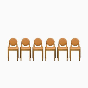 Beech Chairs by Philippe Hurel, 1980s, Set of 6