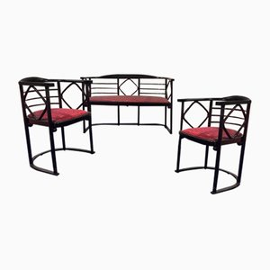 Antique Parlor Set by Josef Hoffmann for Jacob & Josef Kohn