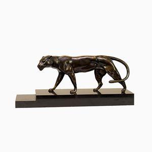 Scultura di pantera in bronzo di Antonio Bofill per Patrouilleau, anni '30