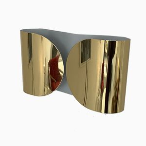 Foglio Brass Wall Light by Afra & Tobia Scarpa for Flos, 1966