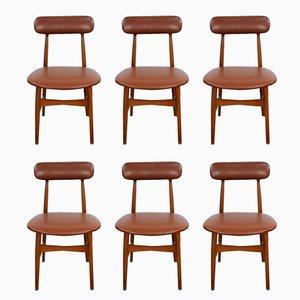 Italienische Vintage Stühle, 1950er, 6er Set
