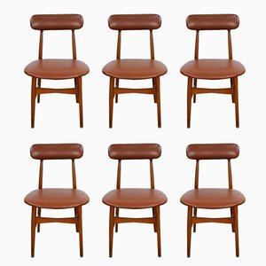 Vintage Italian Chairs, 1950s, Set of 6