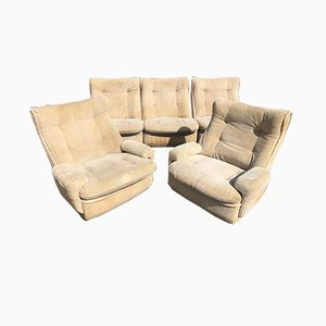Orchid Set aus Sofa & 2 Sessel von Michel Cadestin für Airborne, 1970er
