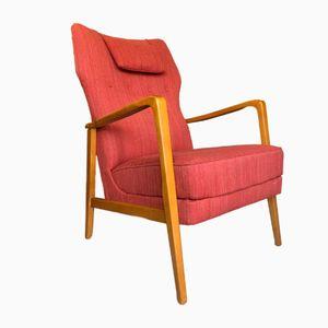 Swedish Modern Wingback Armchair, 1960s
