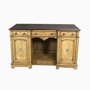 Schreibtisch aus Mahagoni & Pinienholz mit Wedgwood-Medaillons