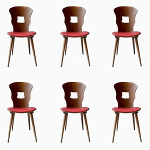 Vintage Gentiane Chairs from Baumann, 1960s, Set of 6