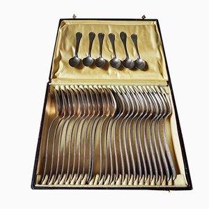 Set di posate placcato in argento, anni '40