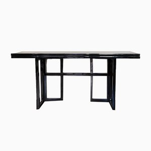 Vintage French Black Console Table by Maison Jansen, 1970s