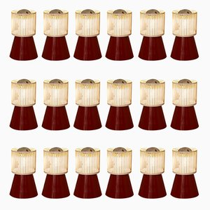 Mid-Century Casino Wall Lamps, Set of 18