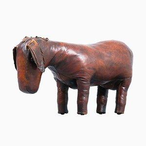 Taburete Donkey de cuero de Valenti, años 60