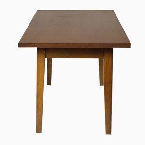Mesa auxiliar vintage de madera, años 60