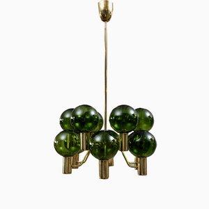 Lámpara de araña Patricia T372 / 12 de Hans-Agne Jakobsson para Markaryd, años 60