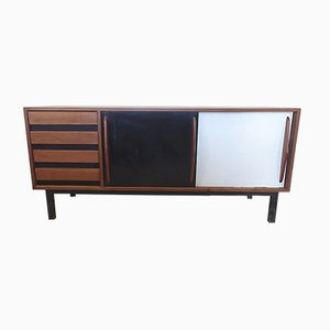 Vintage Mahogany Sideboard by Charlotte Perriand for Steph Simon, 1950s