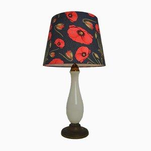 Vintage Tischlampe aus Porzellan