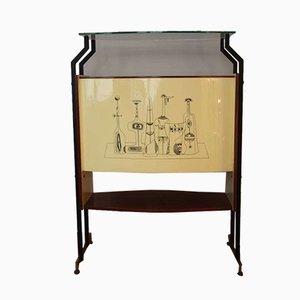 Mueble bar italiano Mid-Century, años 50