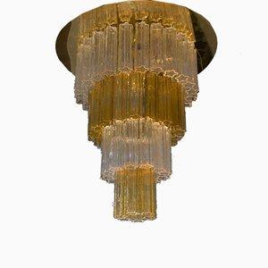 Großer Tronchi Kronleuchter von JT Kalmar für Venini, 1960er