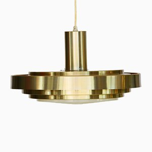 Aluminium Pendant Light by Lyskaer Belysning, 1970s