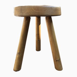 Les Arcs 1600 Stool with Hammer Feet by Charlotte Perriand, 1960s