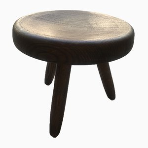 Les Arcs Shepherd Stool by Charlotte Perriand, 1969