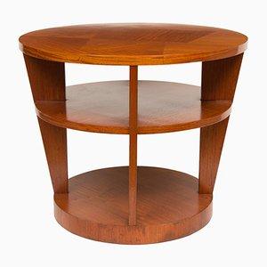 Mesa Art Déco de madera satinada, años 30