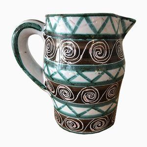 Französischer Vintage Keramikkrug von Robert Picault
