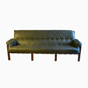 Vintage Leather Sofa by Sérgio Rodrigues