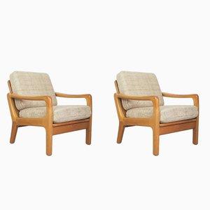 Dänische Sessel von Juul Kristensen für Glostrup, 1960er, 2er Set