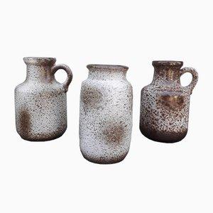 Vases Mid-Century de Scheurich, Allemagne, 1970s, Set de 3