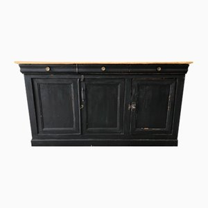 Antique Industrial Sideboard with 3 Doors