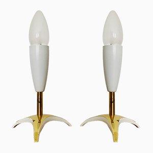 Italienische Tischlampen aus Messing, 1950er, 2er Set