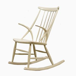 Rocking Chair Mid-Century par Illum Wikkelsø pour Niels Eilersen, Danemark, 1960s