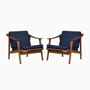 Fauteuils Easy Chairs Modernistes, Danemark, 1960s, Set de 2