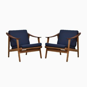 Modernist Danish Easy Chairs, 1960s, Set of 2