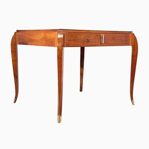 Art Deco Schreibtisch aus Nussholz, 1930er