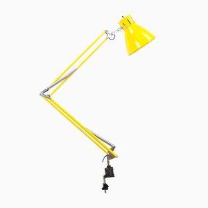 Lámpara de arquitecto amarilla, años 60