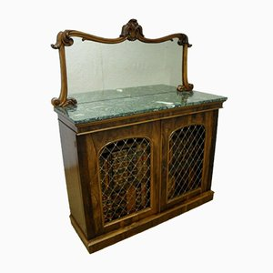 Victorian Rosewood Side Cabinet from W&C Wilkinson, 1850s