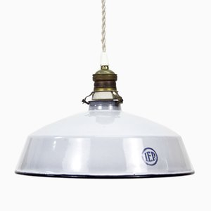 Lampada da soffitto vintage industriale di IEP Iluminación, Spagna, anni '50