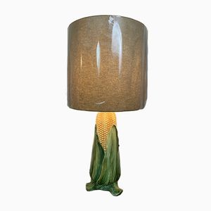 Vintage Ceramic Corn on the Cob Table Lamp by J. Bassam