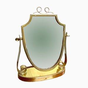 Espejo de tocador pequeño de Gio Ponti para Fontana Arte, años 40