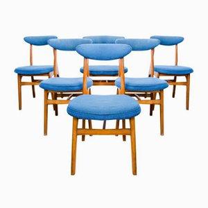 Chaises Vintage par Rajmund Teofil Hałas, 1960s, Set de 6