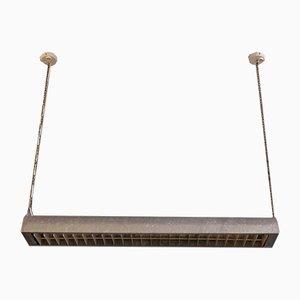 Lampada da soffitto grande in acciaio, Danimarca, anni '60
