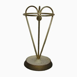 Mid-Century Brass Umbrella Stand