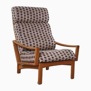 Dänischer Modell Vario Sessel mit Gestell aus Eiche & Hohlrücken von Grete Jalk für Glostrup, 1960er